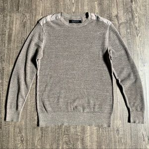 All Saints Oatmeal Textured Sweater